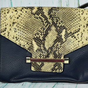 Vince Camuto Navy\ Plum & Croc Crossbody Bag